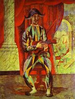 Harlequin with a Guitar, by Pablo Picasso