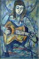 Woman with Guitar, by Irving Amen
