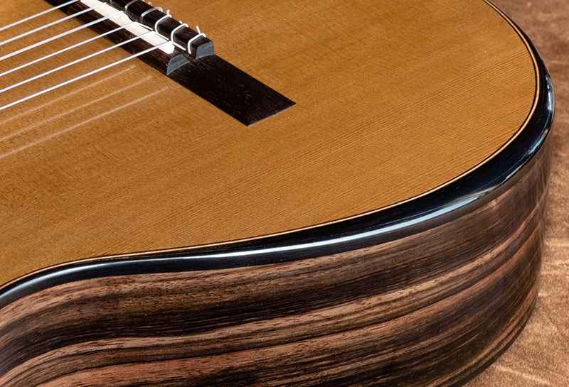 Guitar #295 -- Ziricote back and sides with Macassar ebony bevel