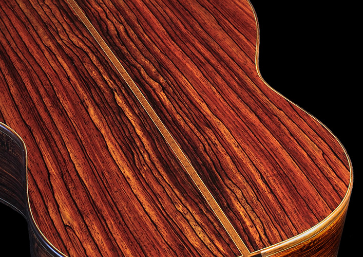 Dramatic cocobolo rosewood back